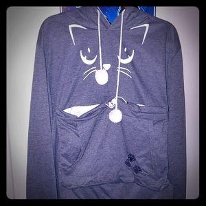 Cat Cuddle Hoody 2XL